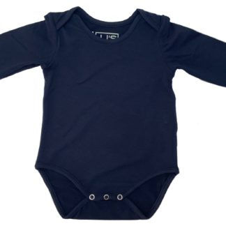 baby body bamboo navy
